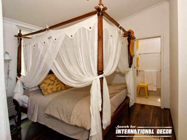 four poster bed canopy, canopy bed, romantic bedroom, bed curtains