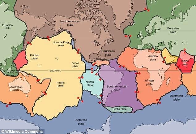 Πολλοί από χερσαίες μάζες της Γης συνεχίζουν να κινούνται σε κάθε άλλη. Ο Ειρηνικός Ωκεανός μικραίνει σε απόσταση λίγων εκατοστών ανά έτος, το οποίο θα προκαλέσει τελικά την Αμερική για να συγκρουστούν με την Ευρασία, ενώ η Αυστραλία είναι επίσης κινείται προς την Ασία κατά 2,8 ίντσες (7 εκατοστά), ένα χρόνο και θα ενταχθούν στην Αμάσεια
