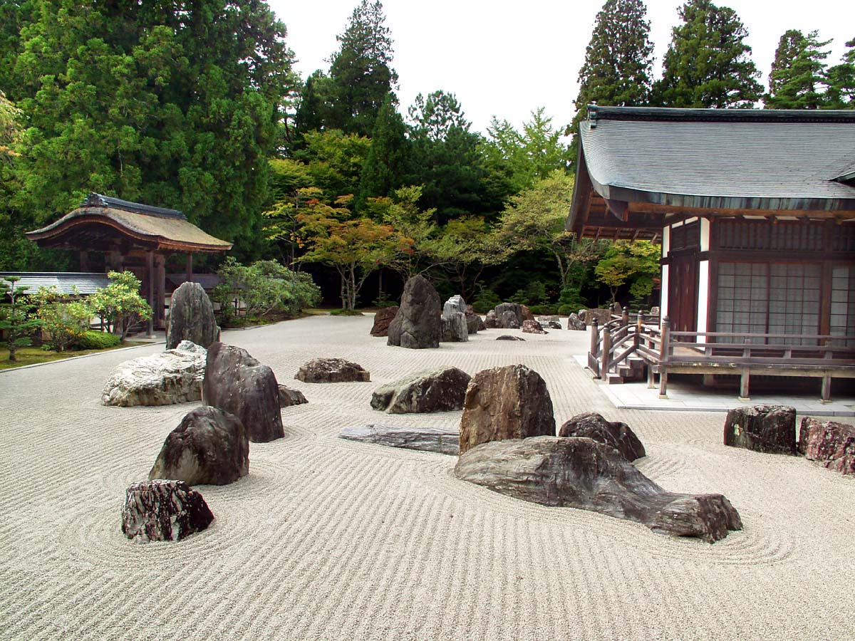 Rocks in the japanese garden