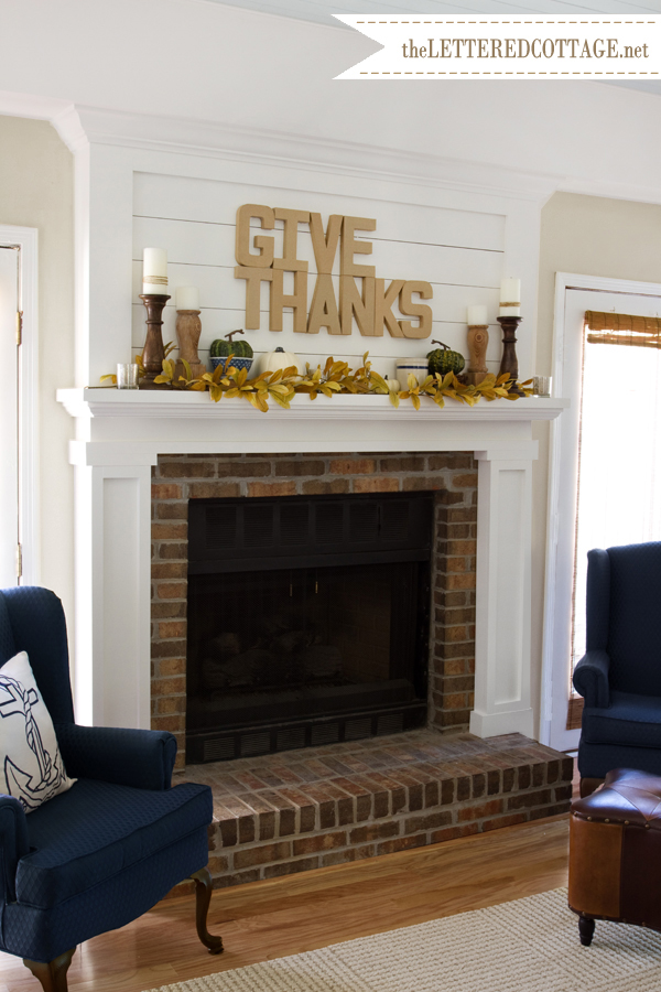 35 fabulous fall mantels the cottage market for Over the mantel decor