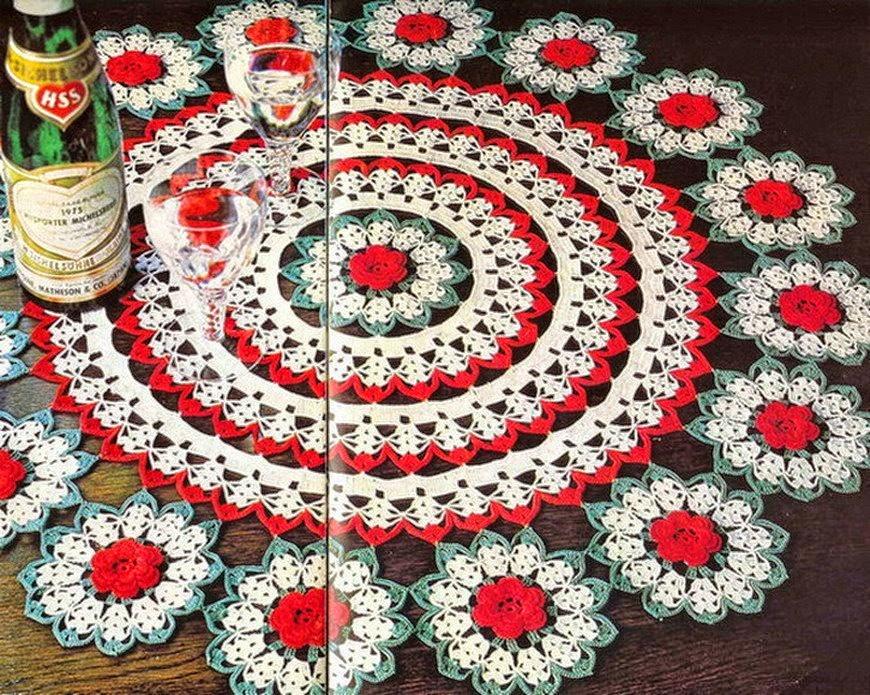 Carpeta circular al crochet