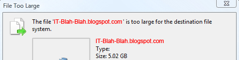 The file is too large for destination file system.