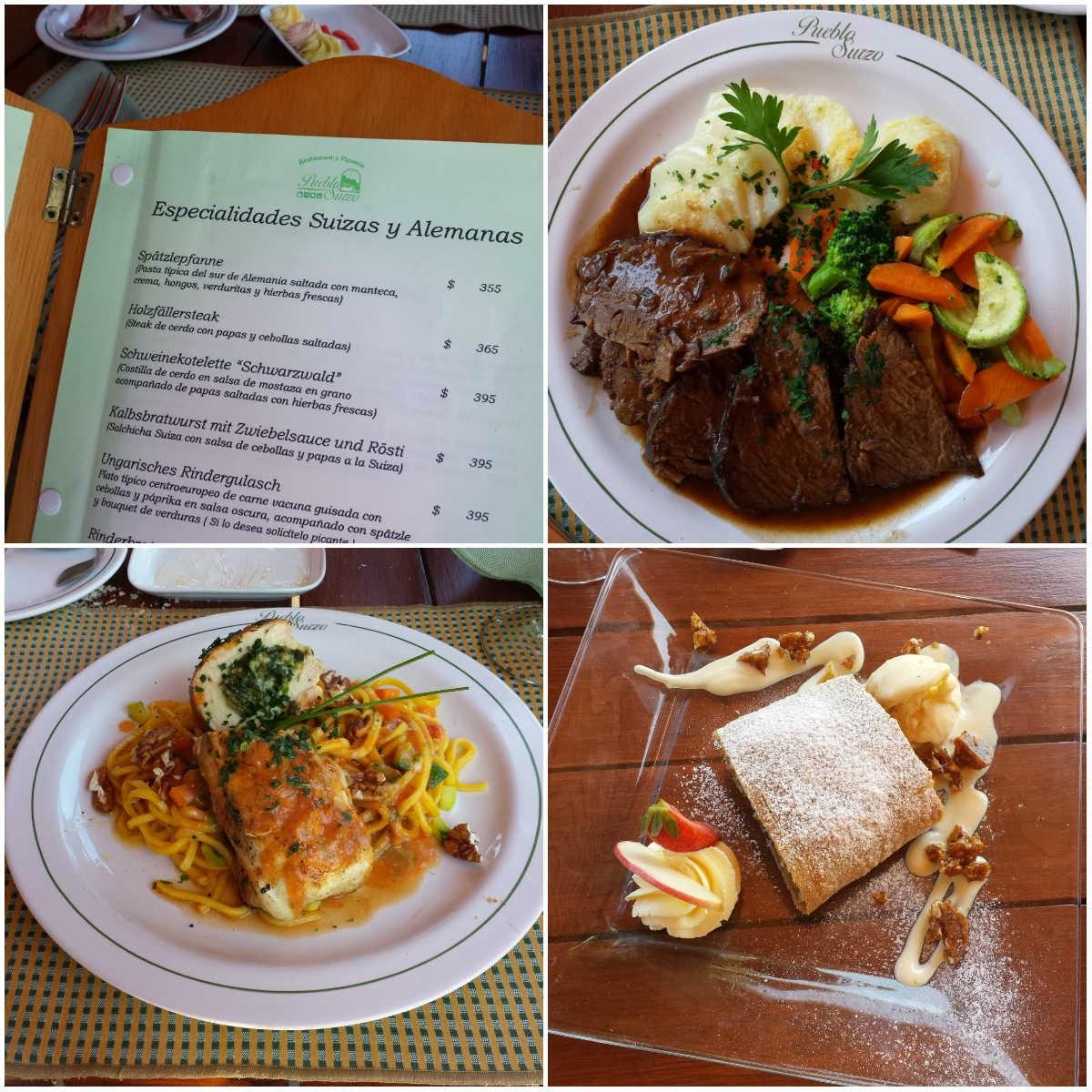Almoço no Pueblo Suizo no Uruguai
