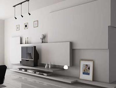 beyaz+dekoratif+duvar+unitesi Duvar Ünitesi Modellerinde Trendi Yakalayın