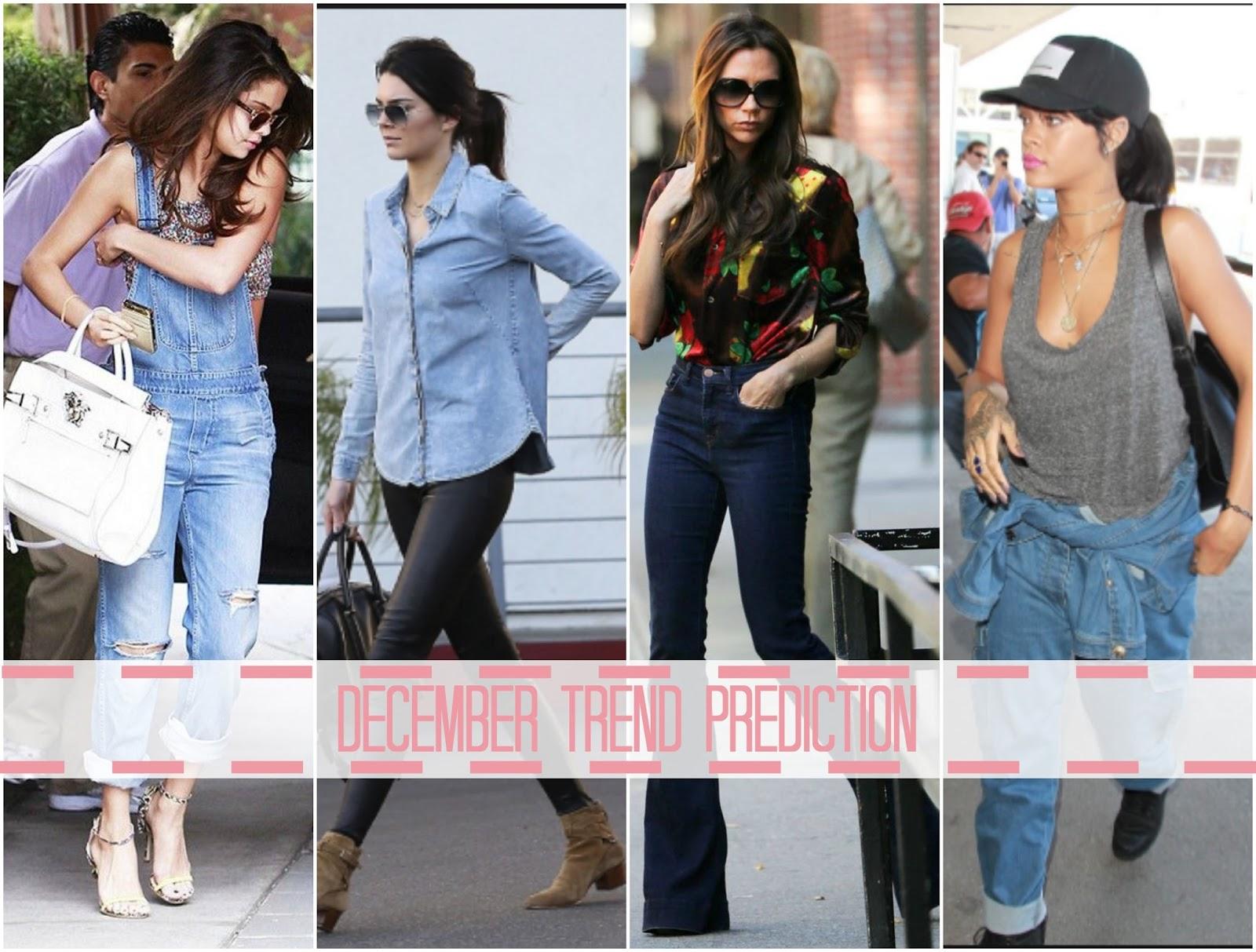 Celebrities Denim trend fashion 2015