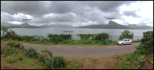 Tikona Fort, Tung Fort, Pavana Dam and my Uber cool machine i20