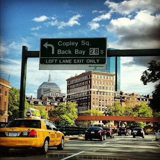 Back Bay view from Storrow Drive