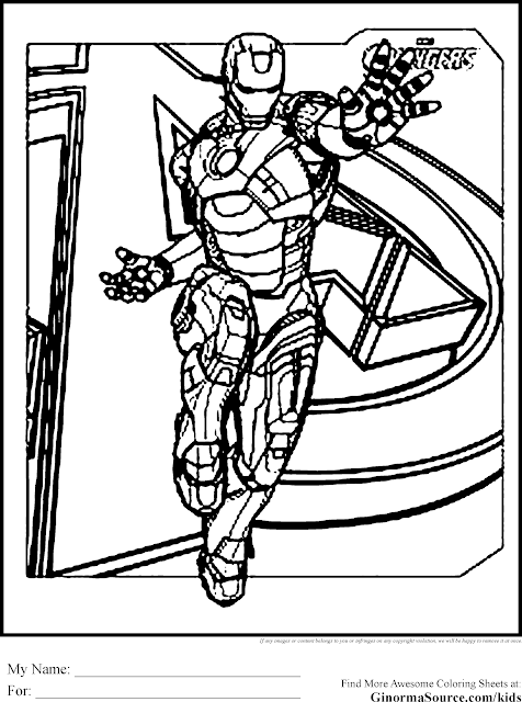 Avengers Iron Man Coloring Pages