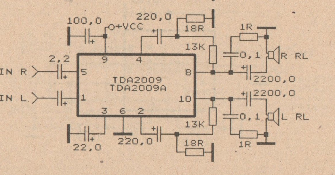 Admirable 2 X 20 W Car Amplifier Circuit With Tda2009 Circuit2017 Wiring Database Ilarigelartorg