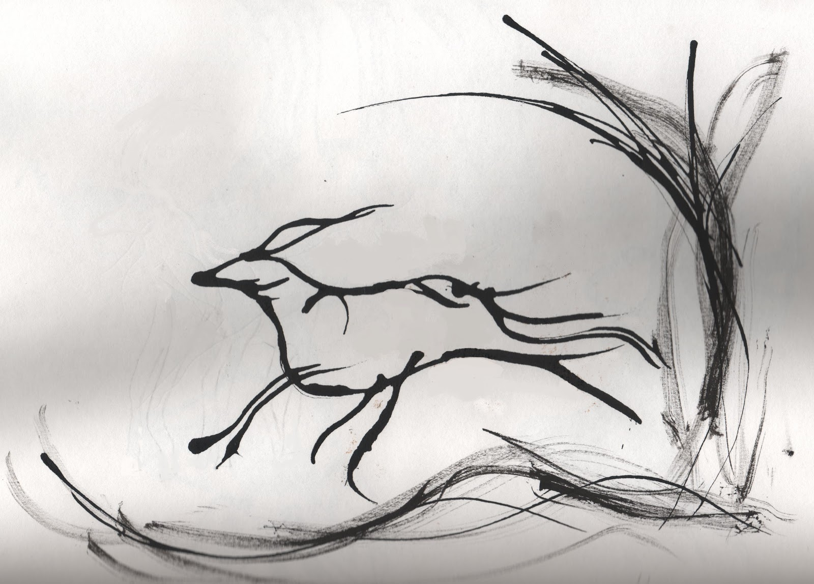 Line Drawing Deer : Dragon deer by gryphowizardgirl on deviantart
