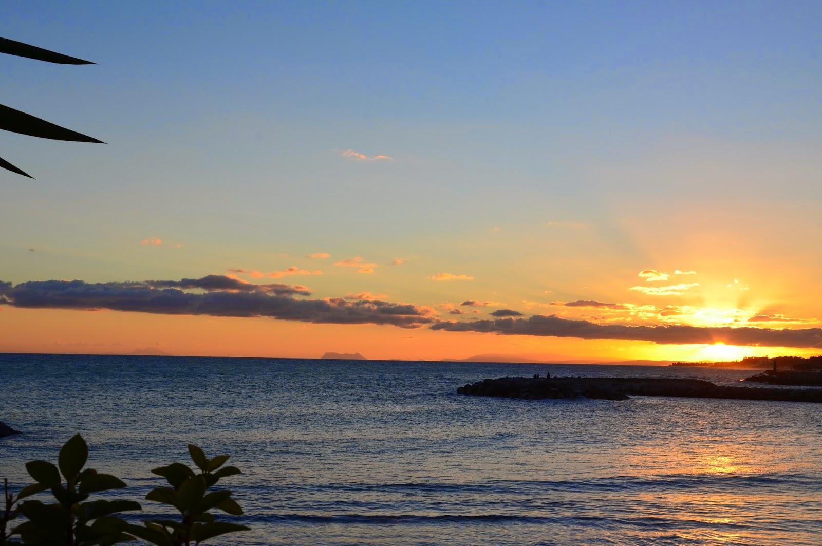 Sunset Puerto Banus to Africa JustMelKate