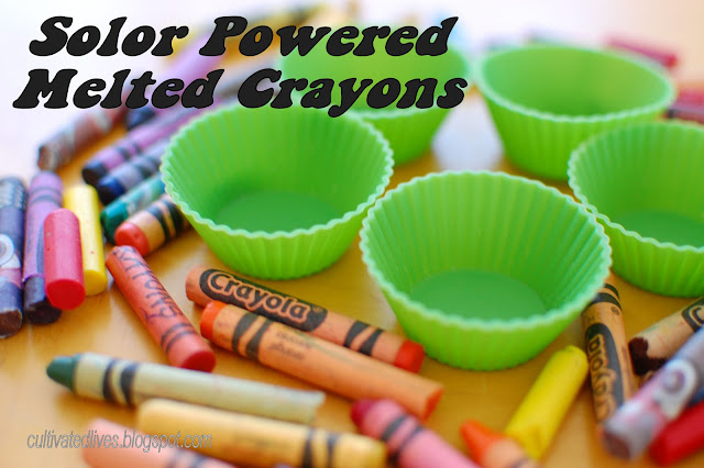 Harnesing the power of the sun to make new crayons!  If you can't beat the heat, utilize it. @CultivatedLives