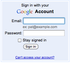 Google Docs Login
