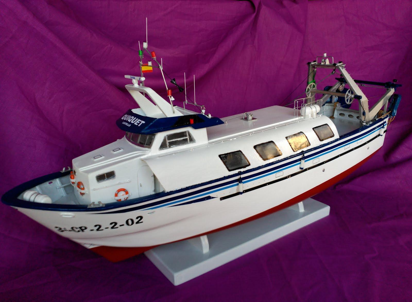 "Maqueta embarcación Asfibe construida por José Francisco Martín ""QUIQUET"""