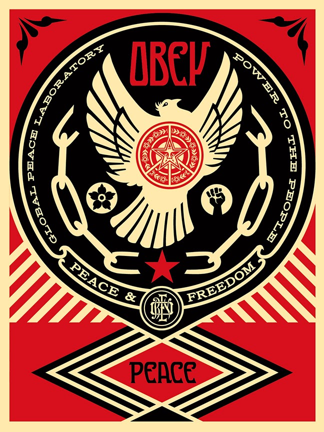"Obey Giant ""Peace & Freedom Dove"" Screen Print by Shepard Fairey"