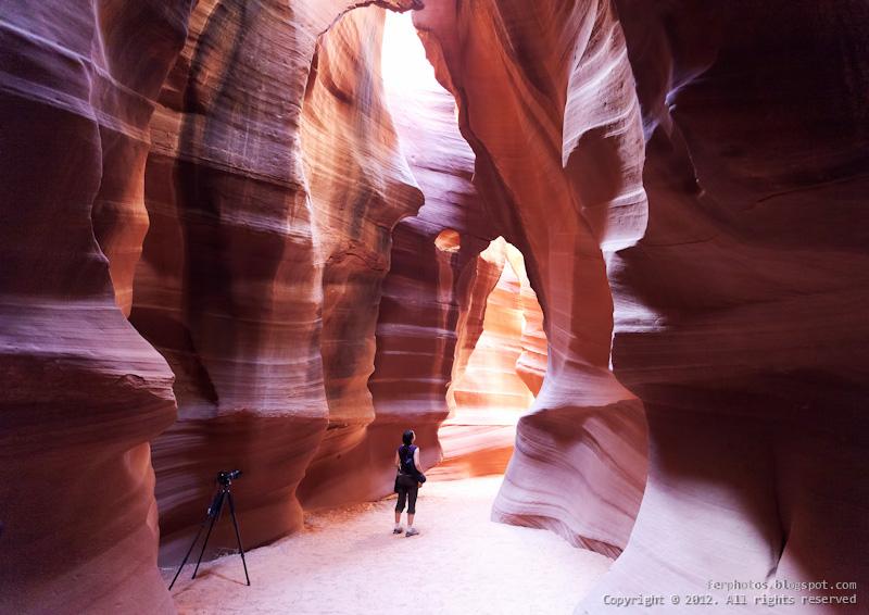 Antelope Canyon slot indian navajo Arizona light beam shadows