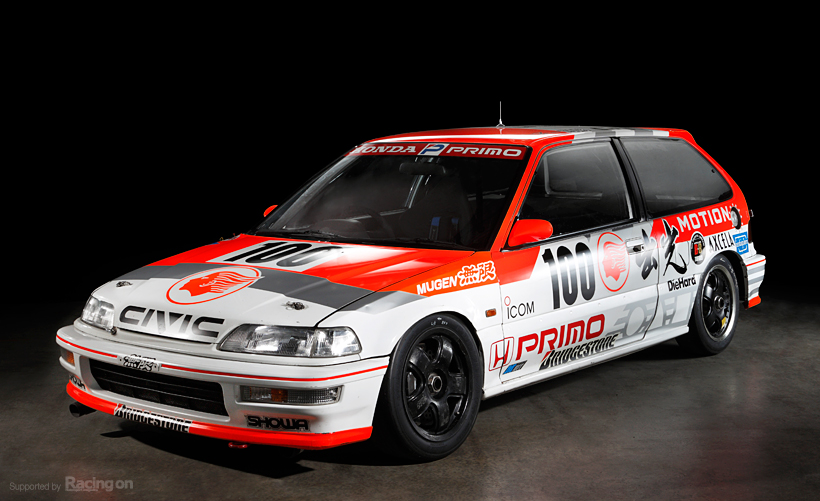 Idemitsu Motion Mugen Civic, kultowa Honda, wyścigi, JDM, japońskie samochody, hot hatchback, VTEC, B16A