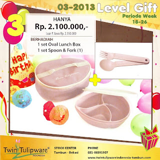 Level Gift Tulipware | Mei - Juni 2013