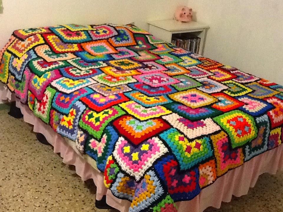 Tejiendo crochet con minte - Aplicaciones de crochet para colchas ...