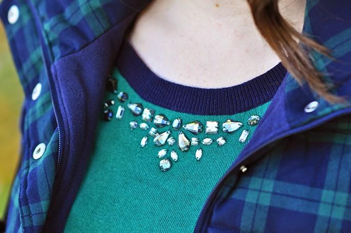 Target Embellished Crewneck Pullover Sweater