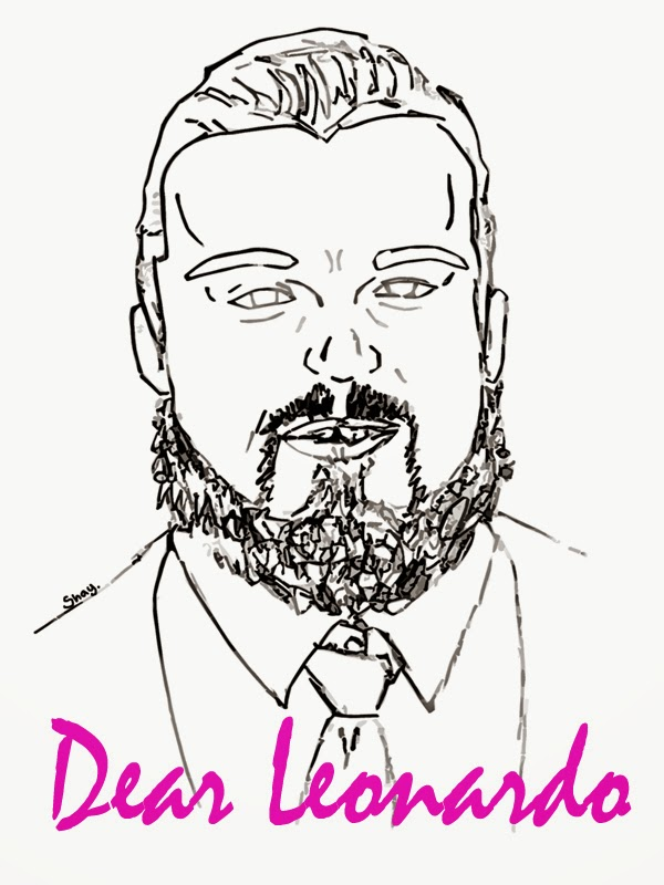 Bearded Leonardo DiCaprio Drawing :: Crappy Candle