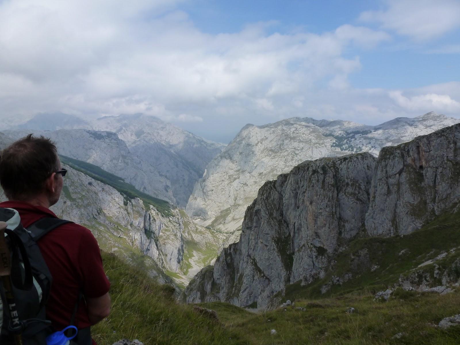 David admires view of mountains