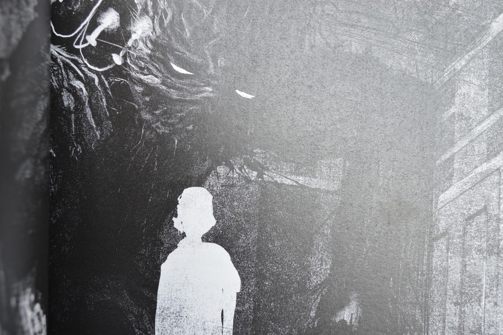 Jim Kay, illustrated, YA Fiction, cancer, death, Patrick Ness, Siobhan Dowd, A Monster Calls, pictures, inside, review, photograph, book, graphic novel, grief, bereavement, yew tree