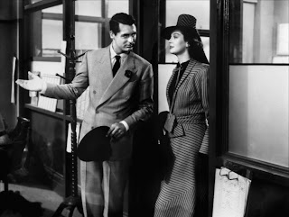 Scene from His Girl Friday with Cary Grant and Rosalind Russell