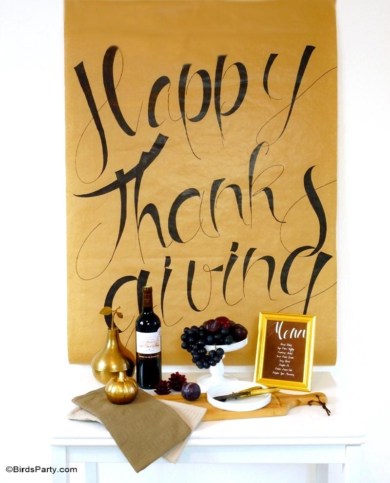Affiche DIY en Calligraphie Facile