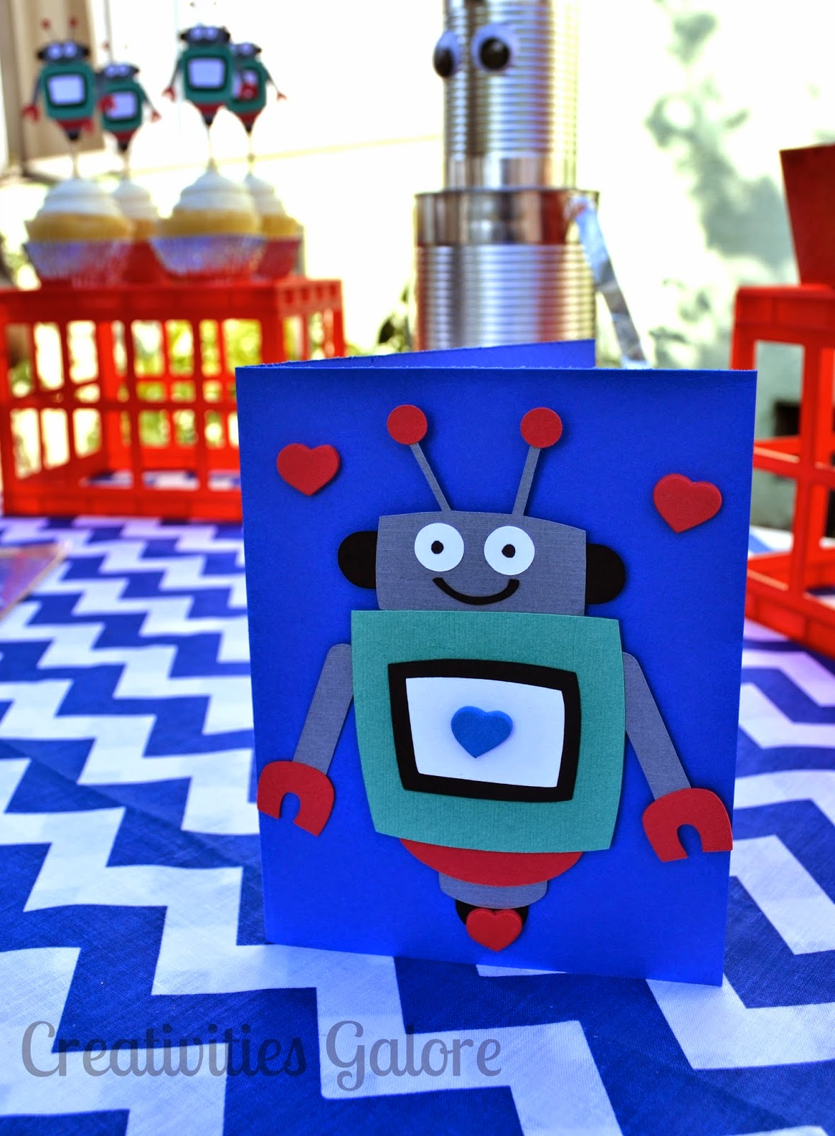 Creativities Galore: Robot Valentine's Party