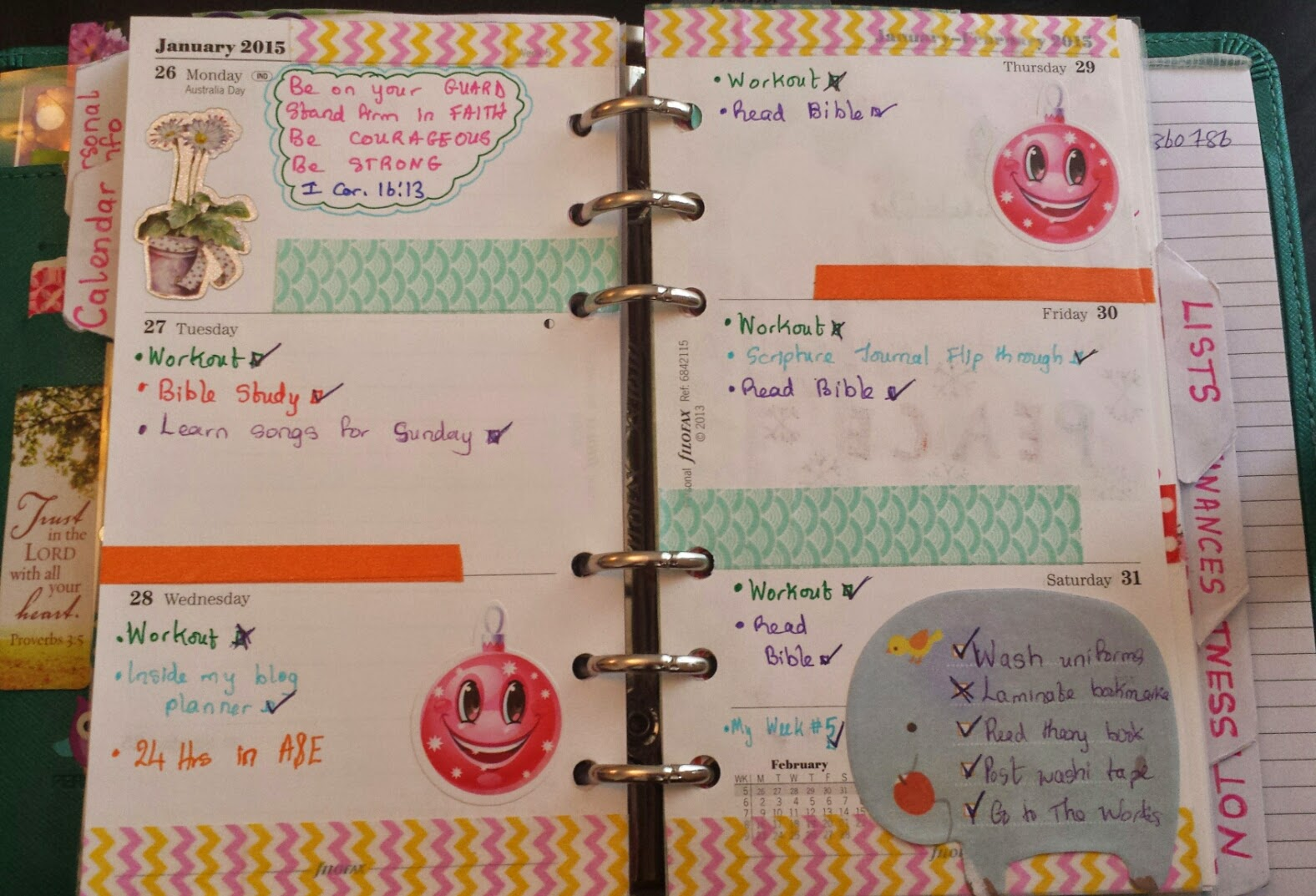 planner decoration ideas washi tape