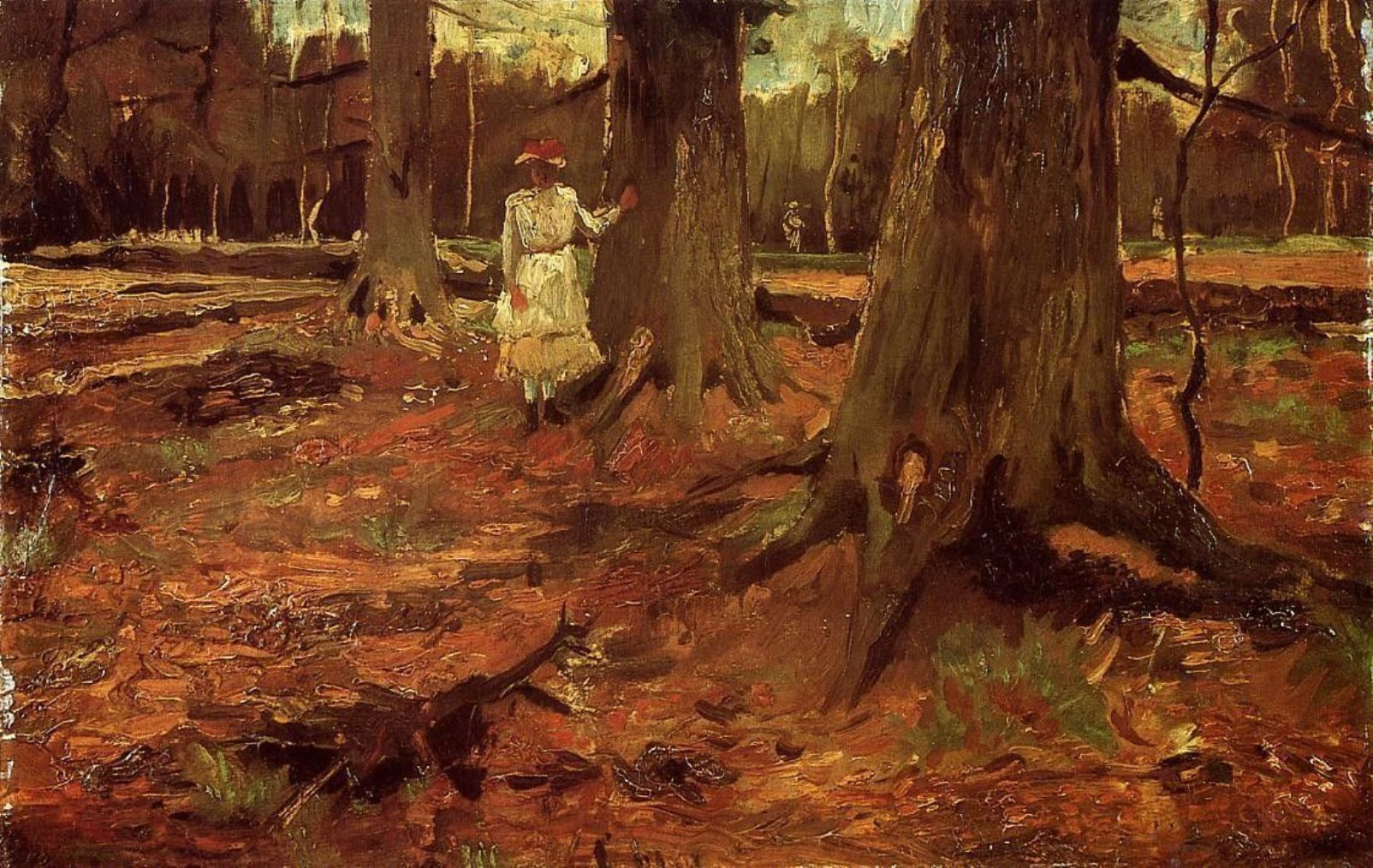 Girl in White in the Woods by Vincent van Gogh