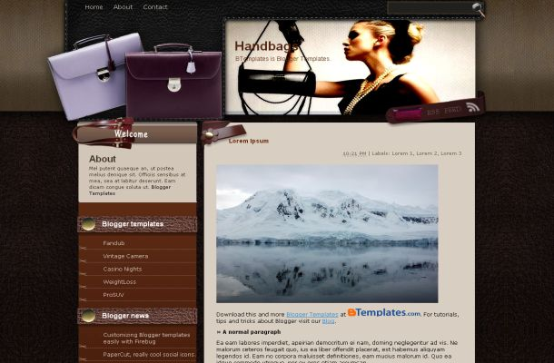 Free Blogger Bags Brown Shope Theme Template