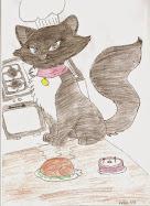 A gata Cata cociñeira