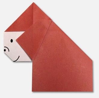 Hướng dẫn cách gấp con khỉ đột Gorilla bằng giấy đơn giản - Xếp hình Origami với Video clip