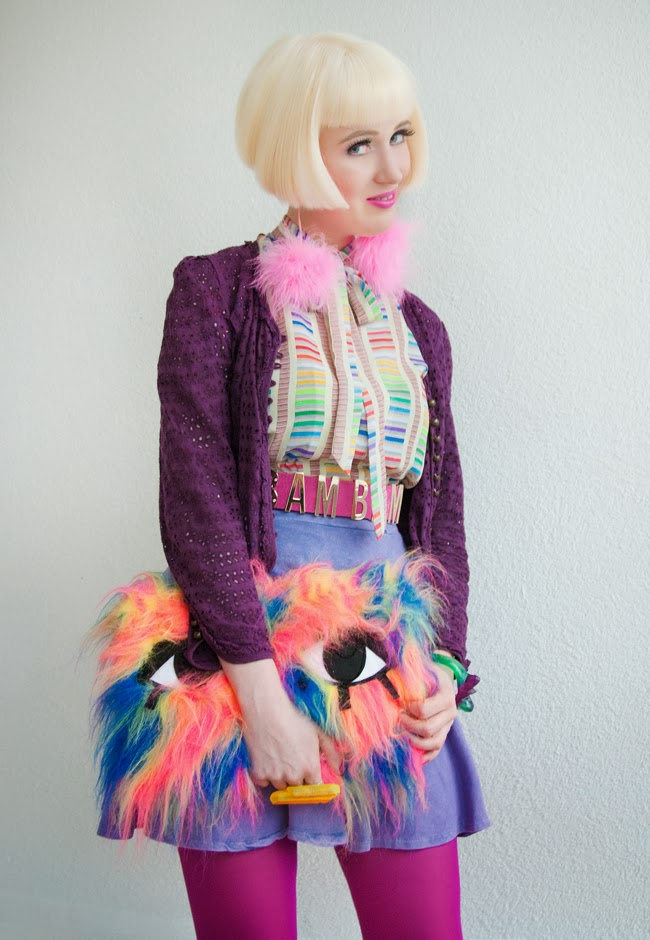 mink pink, lazy oaf, pom pom earrings, joanna pybus
