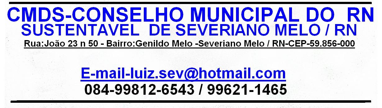 CMDS-SEV MELO / RN