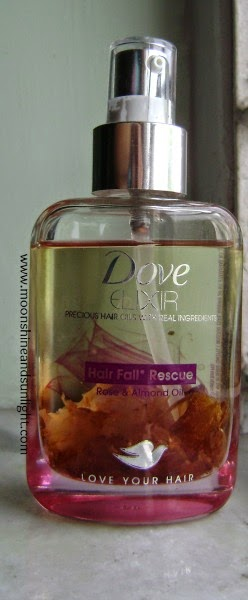 Dove Elixir rose and almond oil for hairfall control review