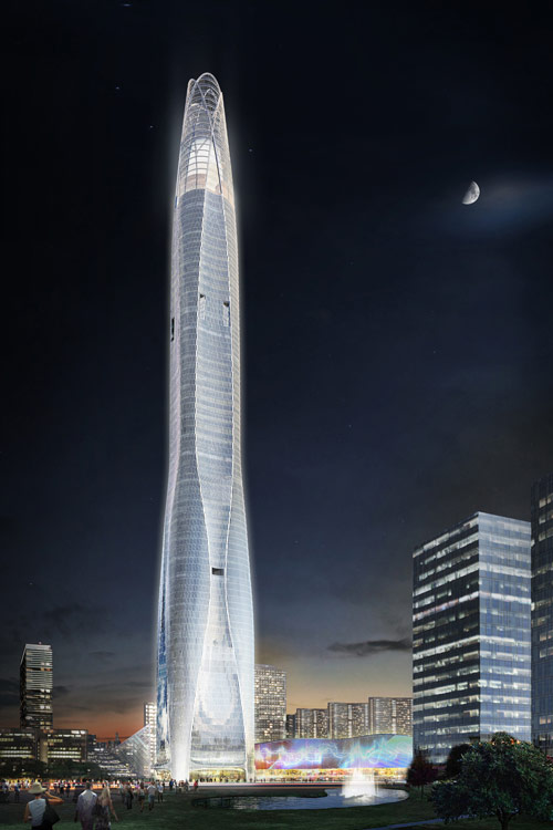 21st century architecture ctf tower in tianjin china is