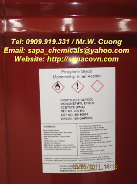PMA - propylene glycol monomethyl ether acetate