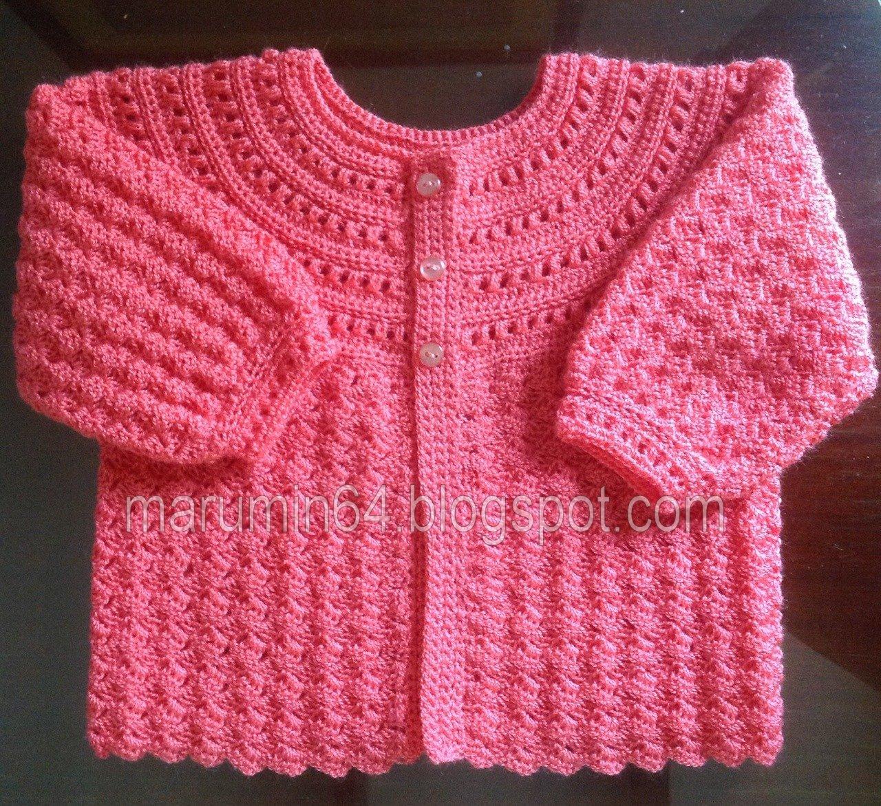Marumin Crochet: CR 018 - Coral Canesú Redondo Calado / Coral ...