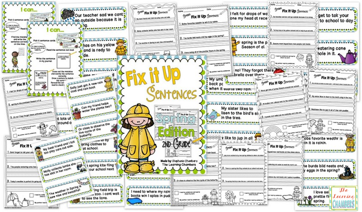 https://www.teacherspayteachers.com/Product/Spring-Themed-Fix-It-Up-Sentences-Second-Grade-Edition-1134114