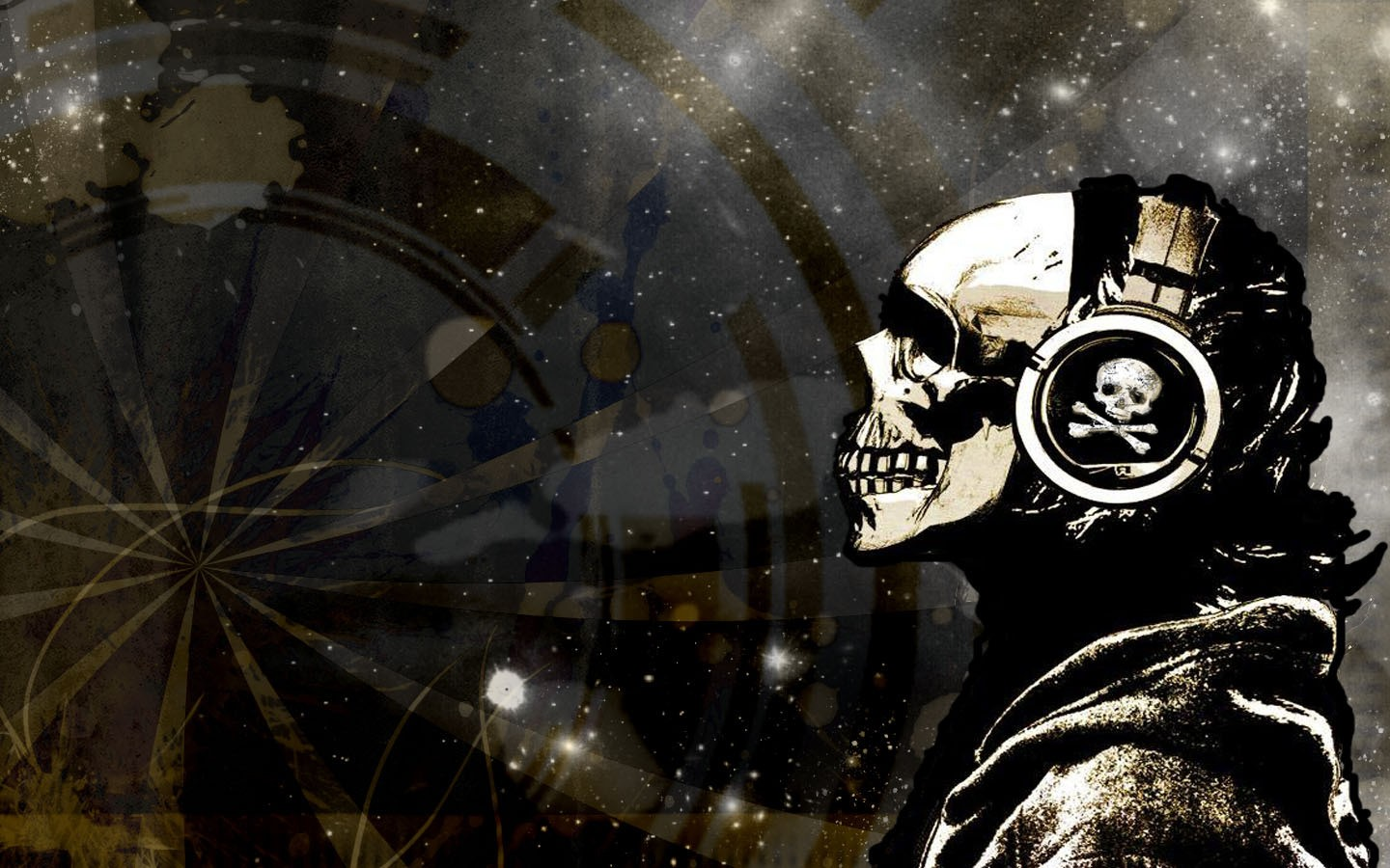 Group of cool skull wallpapers and music headphone anime headphones wallpapers desktop phone tablet awesome voltagebd Choice Image