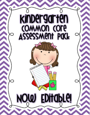 http://www.teacherspayteachers.com/Product/Kindergarten-Common-Core-Assessment-Pack-Editable-1008839