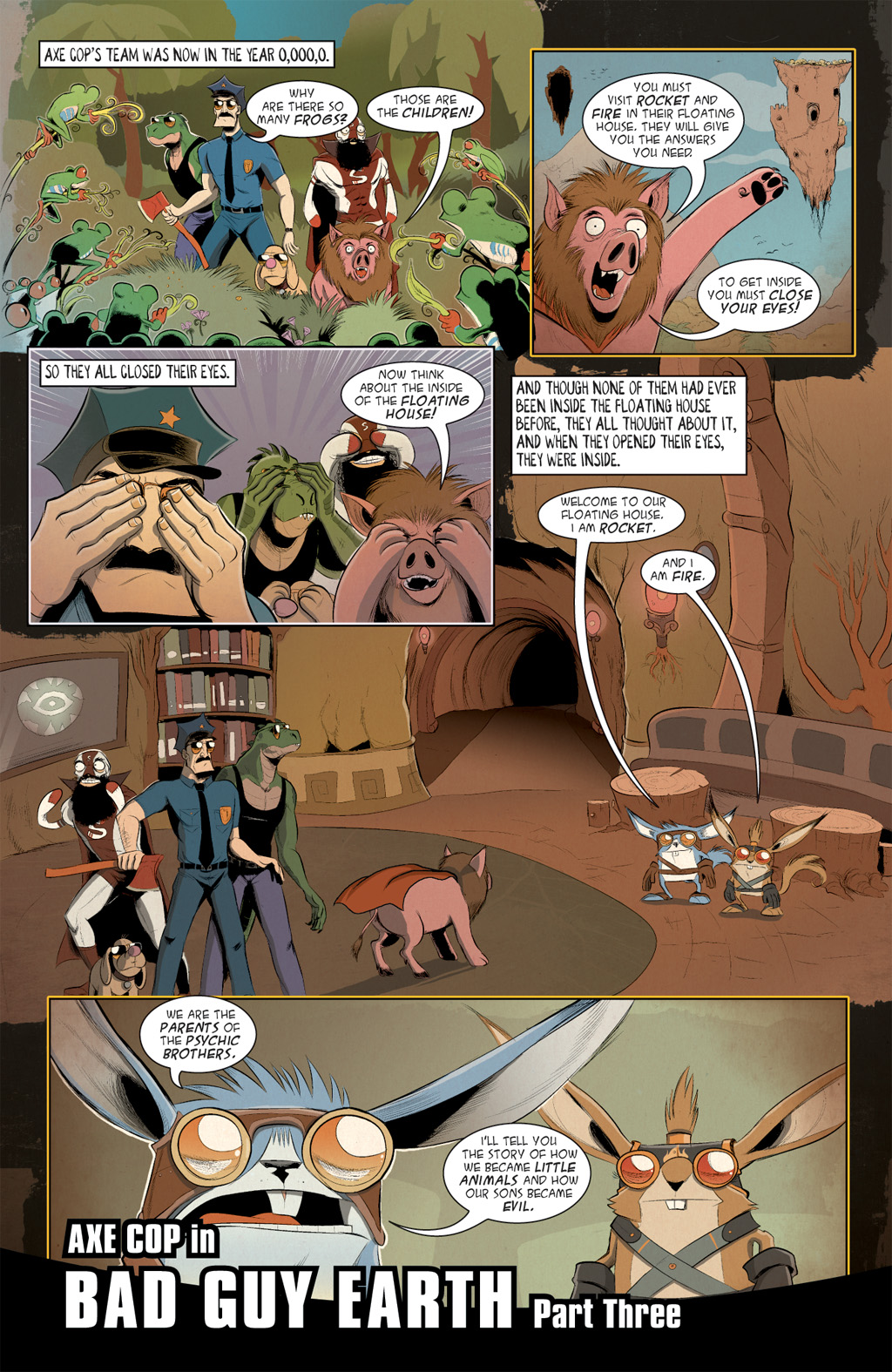 Read online Axe Cop: Bad Guy Earth comic -  Issue #3 - 3