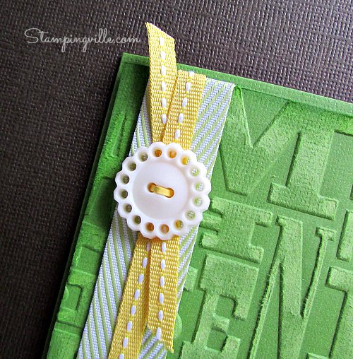 Finishing touches: layered ribbon & vintage chic button