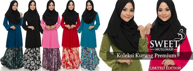 baju kurung muslimah di sweet muslimah