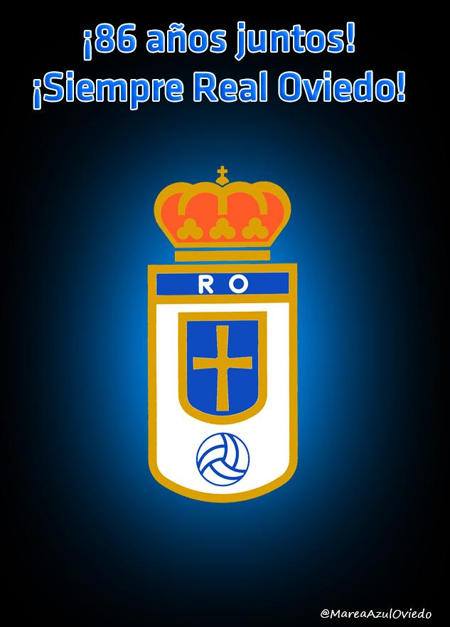 Escudo Real Oviedo, Aniversario Real Oviedo, por Marea Azul