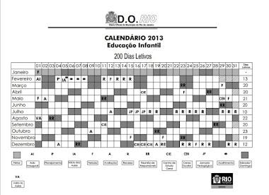 Calendário Letivo 2013