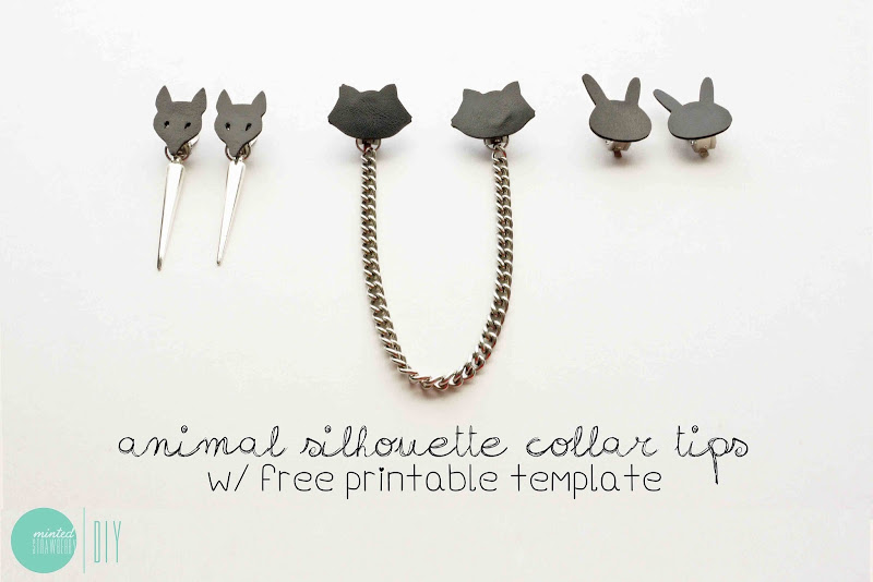 DIY Animal Silhouette Collar Tips with free downloadable template  title=
